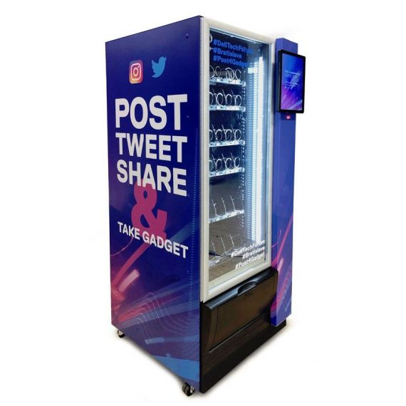 Die Social Vending Machine verbindet offline und online Marketing.