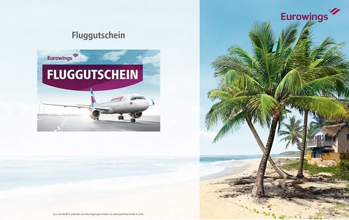 Scan and Win Aktion bei Eurowings Fluggutschein