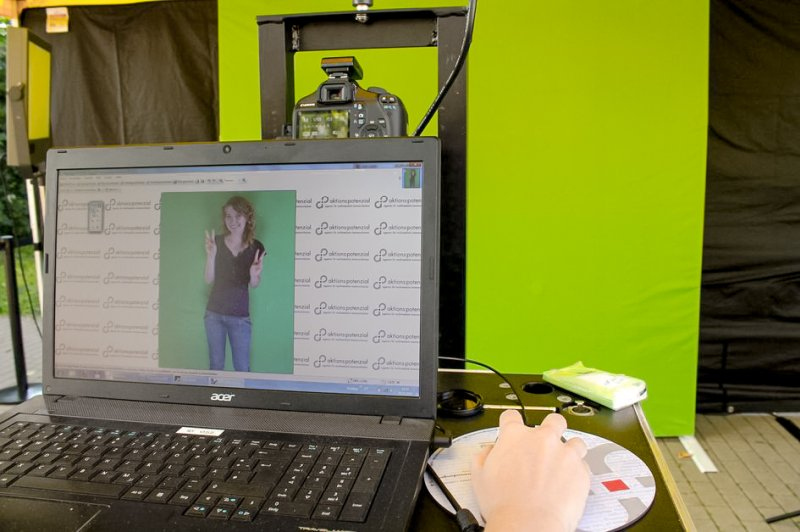 Foto-Aktion Greenscreen