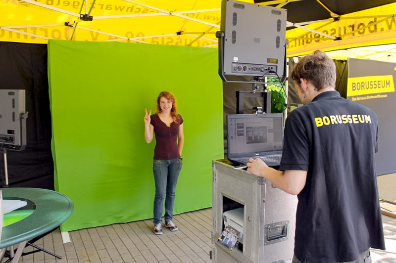 Greenscreen Foto-Aktion